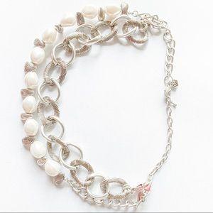 Vintage Silver Pearl Choker